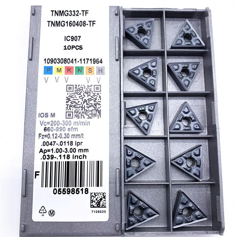 Купить с кэшбэком TNMG160408 TF IC907 / IC908 External Turning Tools Carbide insert TNMG 160408 Lathe cutter Tool Tokarnyy turning insert