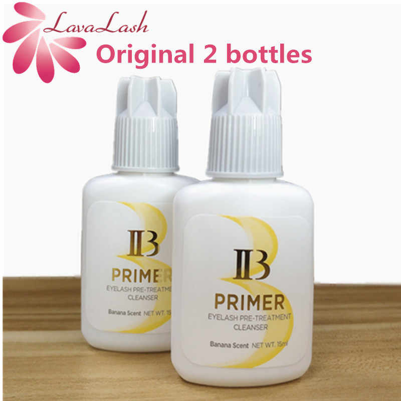 Profesjonalne 2 butelki/lot ibeauty przedłużanie rzęs podkład klejowy do aplikacji Lash z korei południowej 15ml środek utrwalający rzęsy