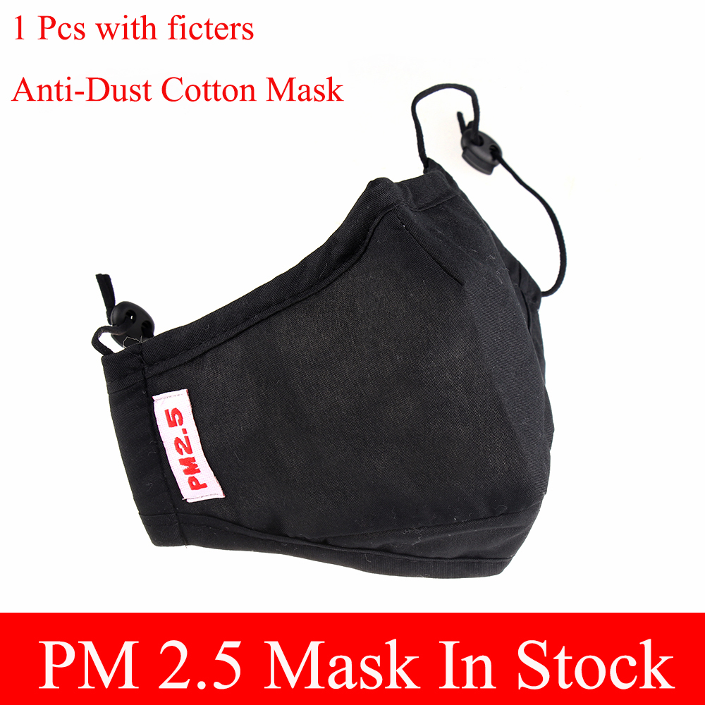 New Fashion Washable Reusable Men Women Cotton Half Face PM2.5 Mouth Mask Fashion Black Anti-Dust Mouth Respirator