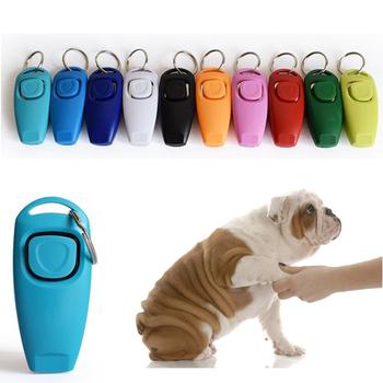 Gwizdek dla psów i klipsów szczeniak Stop Barking pomoc szkoleniowa narzędzie Clicker przenośny trener produkty dla zwierząt domowych tanie i dobre opinie Szkolenia Clickers Z tworzywa sztucznego Dog Training Whistle Clicker PD042