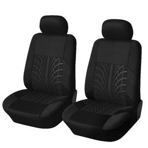 Image 4 - רקמה אוניברסלית רכב מושב מכסה סט Fit ביותר מכוניות מכסה עם צמיג מסלול פירוט סטיילינג רכב מושב מגן אביזרי רכב