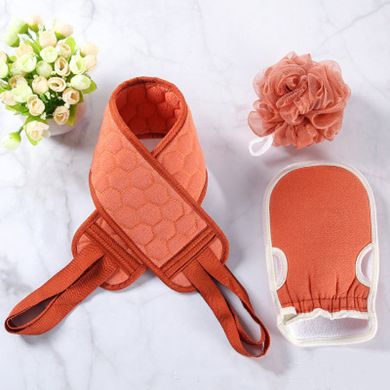 COSTWAY ванна цветок тянуть спинка ремень шлифовка перчатки три предмет набор бутик набор купание ванна растирание спина отшелушивание пена