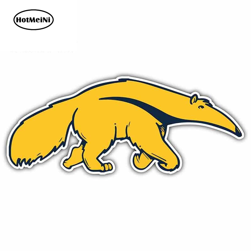 HotMeiNi 13cm X 5.6cm For Cal California Irvine Anteaters Cartoon Funny Car Stickers Waterproof Anime Bumper Trunk Graphics