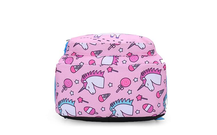 2020 New Unicorn Printed Children School Bag Cute Cartoon Kids Bags Kindergarten Backpack for Boys Girls Baby School Bags