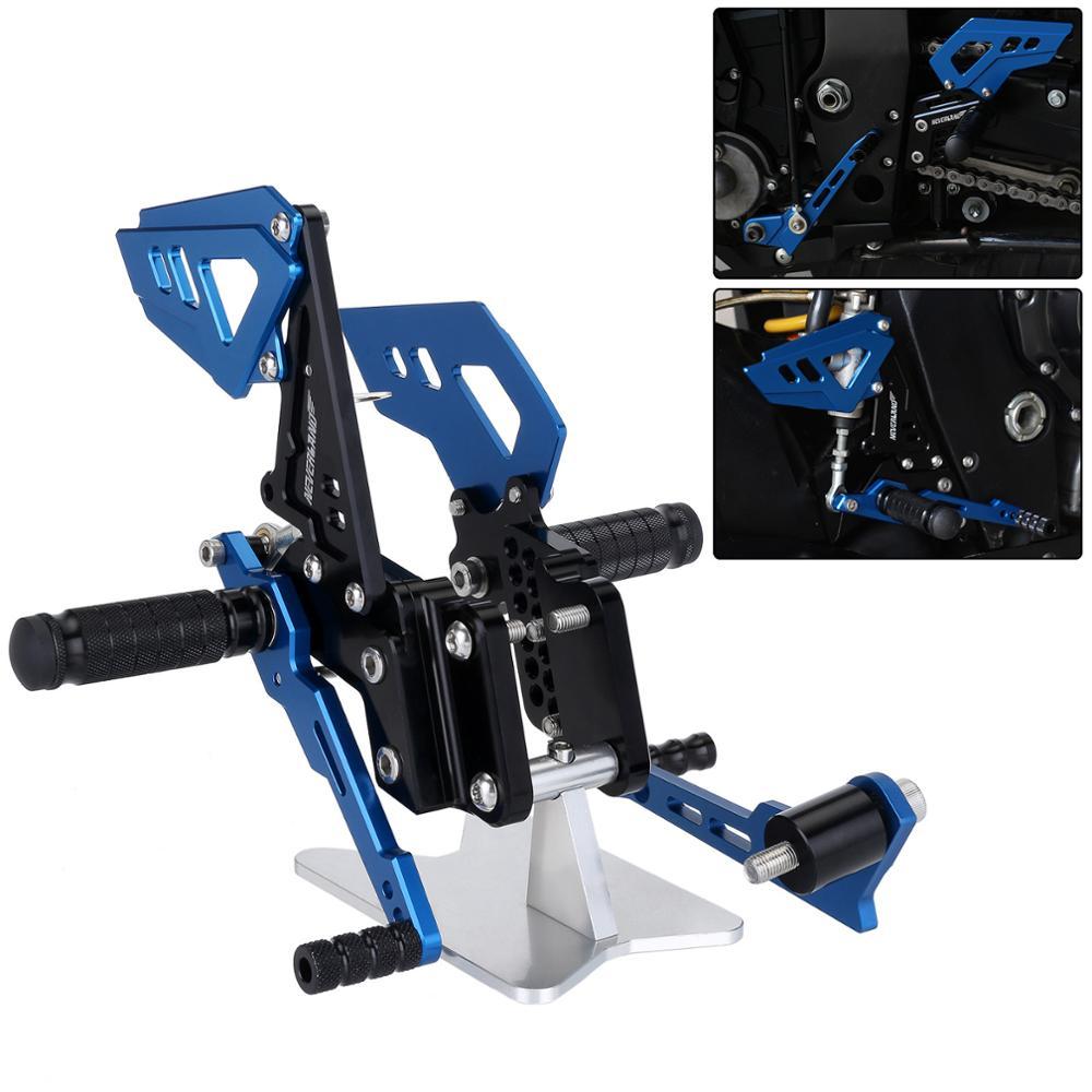 Preto B estilo Azul Da Motocicleta Apoio Para Os Pés Traseiros Pé Pegs Pedal Set Para Suzuli GSXR GSX R 600 750 GSX-R D40