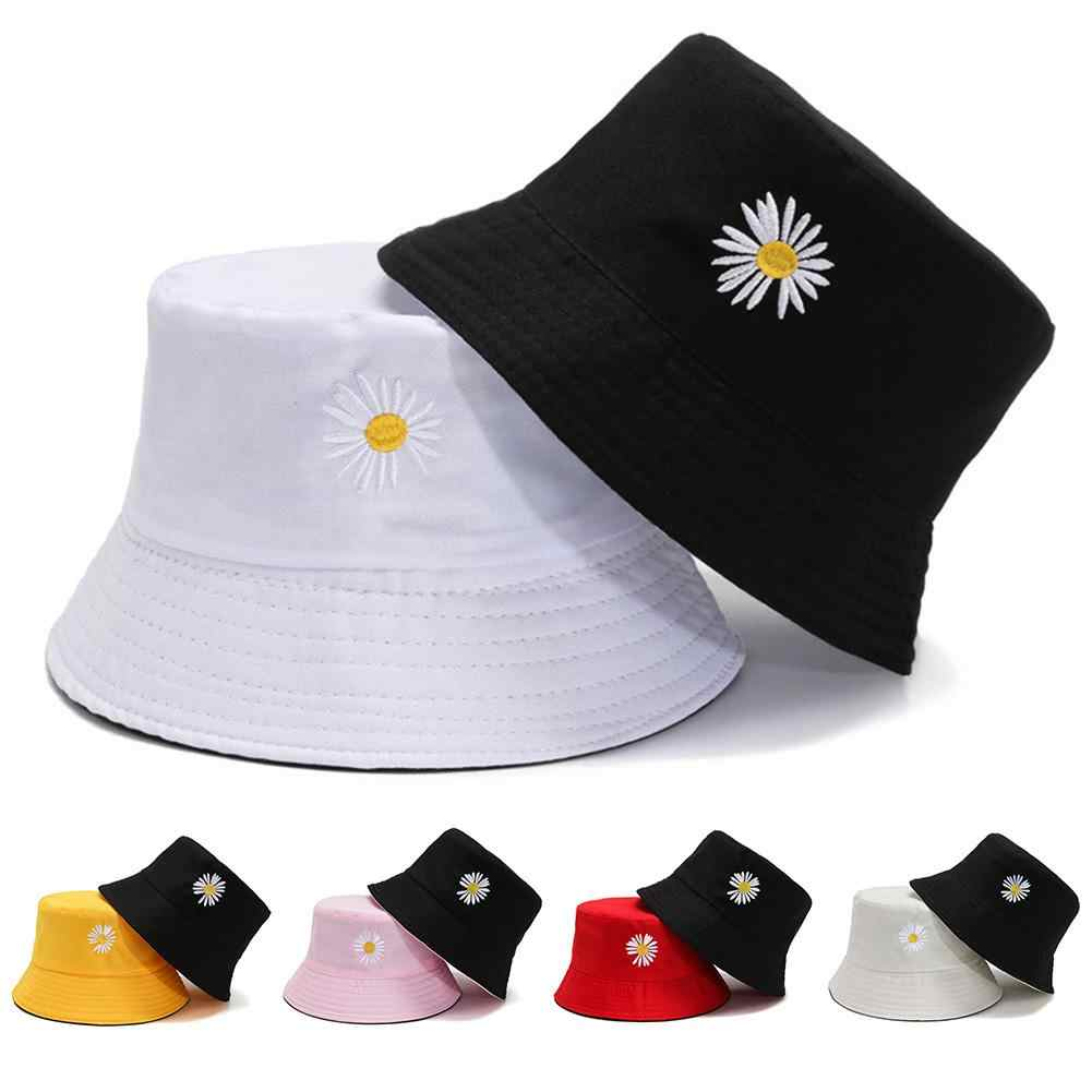 Men Women Double-side Fisherman Bucket Hat Sunshade Fashion Cute Cap Summer