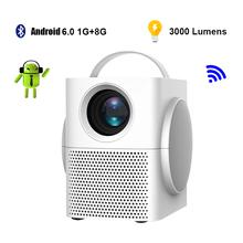 Projektor Lcd Android Full HD 1080P projektor Mini Wifi Video Beamer bezprzewodowe projektory mobilne z wieloma ekranami PR55001 tanie tanio Aumiro Instrukcja Korekta CN (pochodzenie) 4 3 16 9 X 1 35 3000 1920x1080 dpi 3000 Lumenów PR008 25-370inch 800 01 00