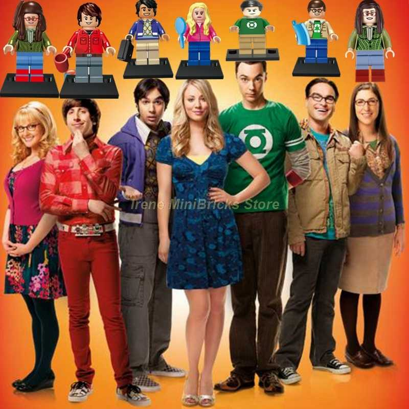 Tbbt TV Angka Sheldon Amy Leonard Penny Rajesh Howard Bernadette Spiderman MARVEL Blok Bangunan Model Mainan untuk Anak