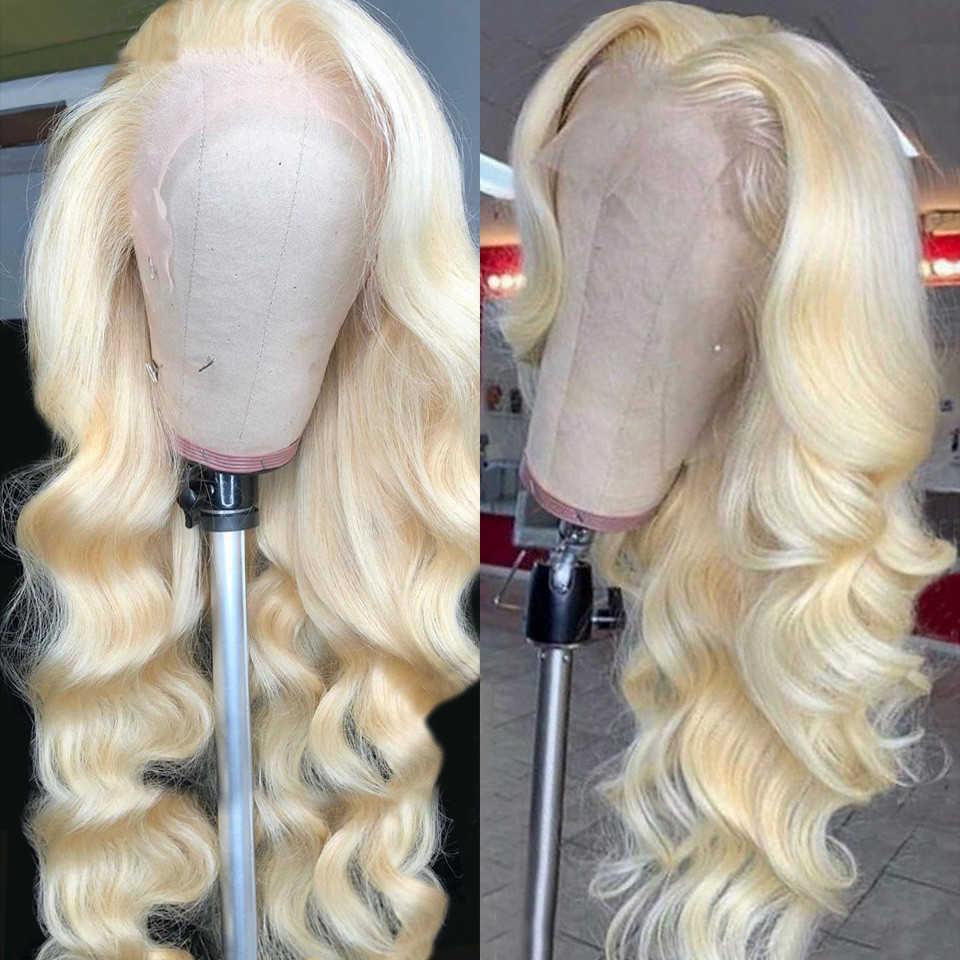 13x4 613 dentelle avant perruque cheveux humains Remy brésilien vague de corps dentelle avant perruques de cheveux humains 150% Blonde dentelle avant perruque t-partie dentelle
