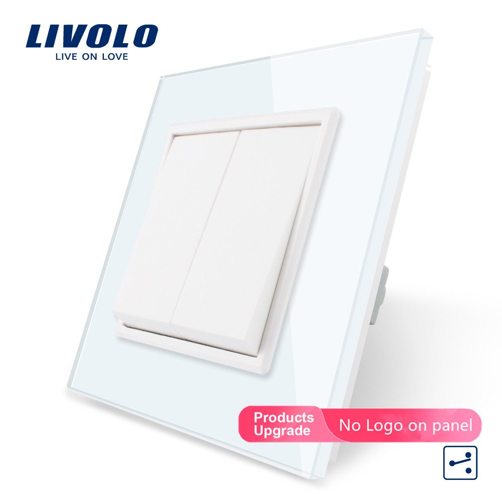 Panel de cristal estándar Livolo EU, interruptor, enchufe de pared, interruptores táctiles, toma de corriente eléctrica, cubierta impermeable, elección gratuita
