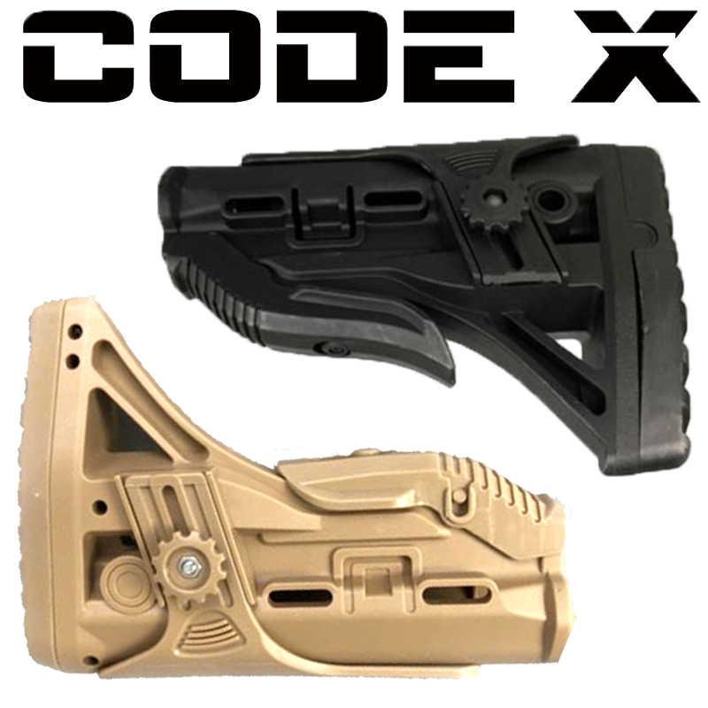 Código x gel bola arma m4v3 butt de brinquedo arma apoio atrás estoque brinquedo arma acessórios