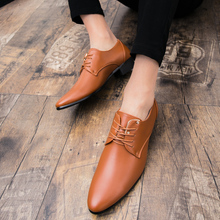 British Style Business Formal Shoes Men Pointed Toe Solid Color Office Mens Shoes Lace-Up Oxfords Male Chaussure Homme цена и фото