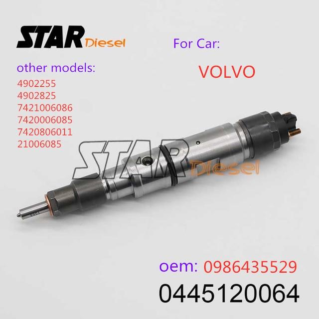 STARดีเซลCommon Rail Injector 0445120064 0986435529 4902255 4902825 7421006086 7420006085 7420806011 21006085 สำหรับVOLVOO