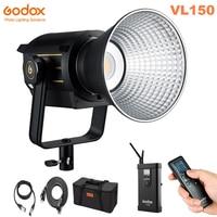 New Godox VL150 150W 5600K CRI96 TLCI 95 White Version LED Video Light Continuous Output Bowens Mount Studio Light App Support