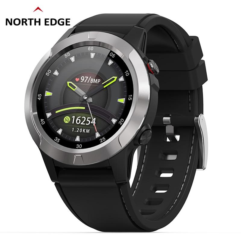 GPS Smart Horloge Heren Digitale Horloge Hartslag Hoogte Barometer Kompas Smartwatch Mannen Running Sport Fitness Tracker NOORD RAND