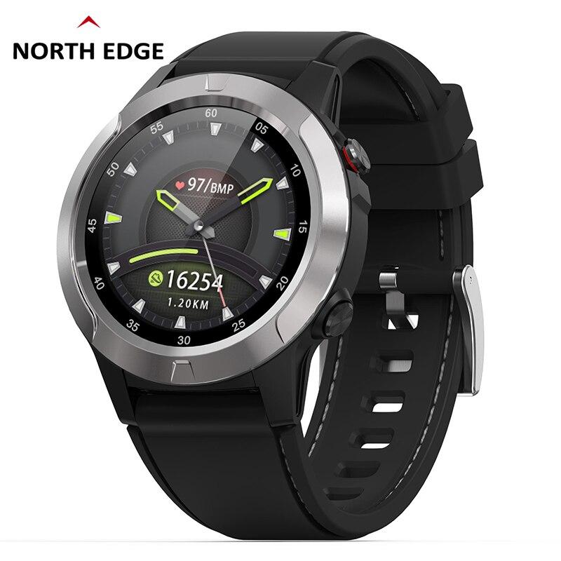 Gps Relógio Inteligente Dos Homens Relógio Digital Freqüência Cardíaca Altitude Barômetro Bússola Smartwatch Homem Correndo Esporte Rastreador De Fitness Borda Norte