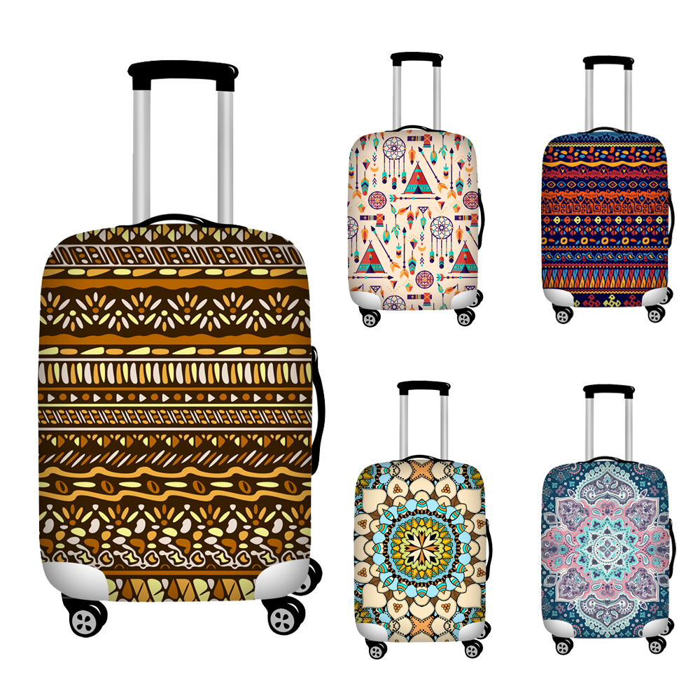 Nopersonality Folk Style Elastic Thickest Hippie Luggage Suitcase Protective Cover For 18-30 Inch Protect Dust Bag Case Covers