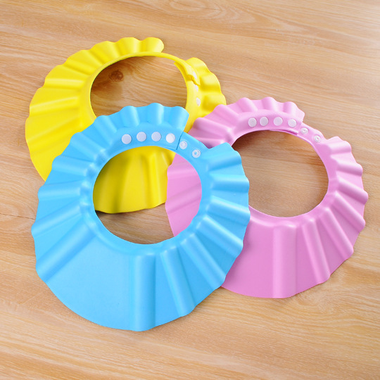 Baby Shower Cap Waterproof Earmuff Kids Bath Cap Adjustable Extra-large Infant Shampoo Cap CHILDREN'S Bathing Shower Cap