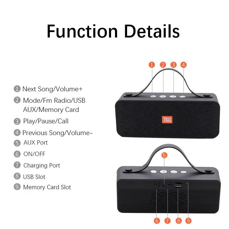 Bluetooth динамик прямоугольный Саундбар портативный открытый