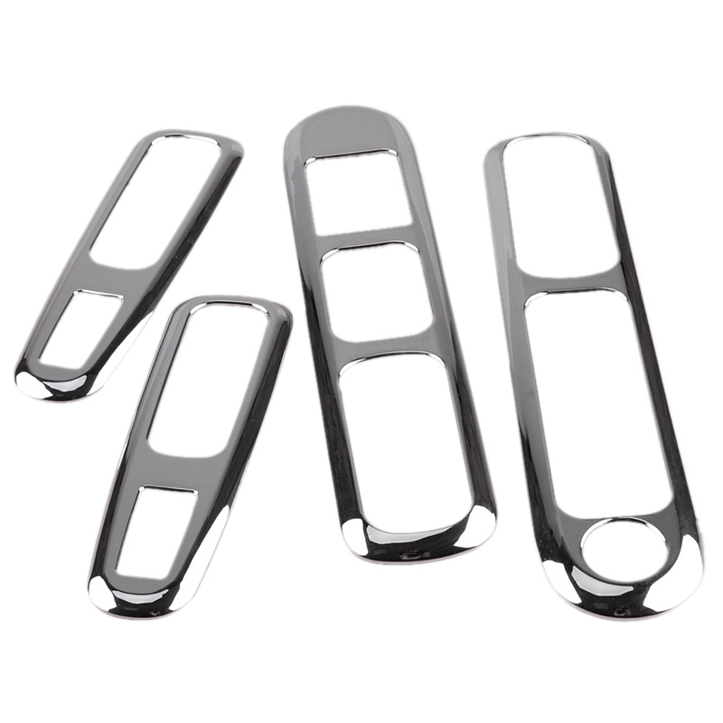 Car Door Armrest Panel Handle Holder Window Lift Switch Button Cover Trim For Peugeot 3008 2009 - 2013 2014 2015