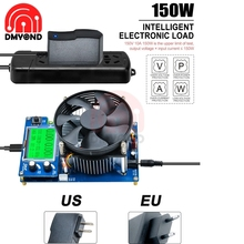 150W dijital pil kapasitesi test cihazı voltmetre ayarlanabilir sabit akım elektronik yük şarj göstergesi güç test cihazı tespit