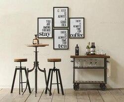 Французский Американский Ретро стиль кованого железа журнальный столик и стул может быть поднят и опущен журнальный столик Ретро стиль мет...