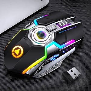Ergonomic Gaming-Mouse Laptop Computer Usb-Optical Rechargeable Silent 1600 Backlit RGB
