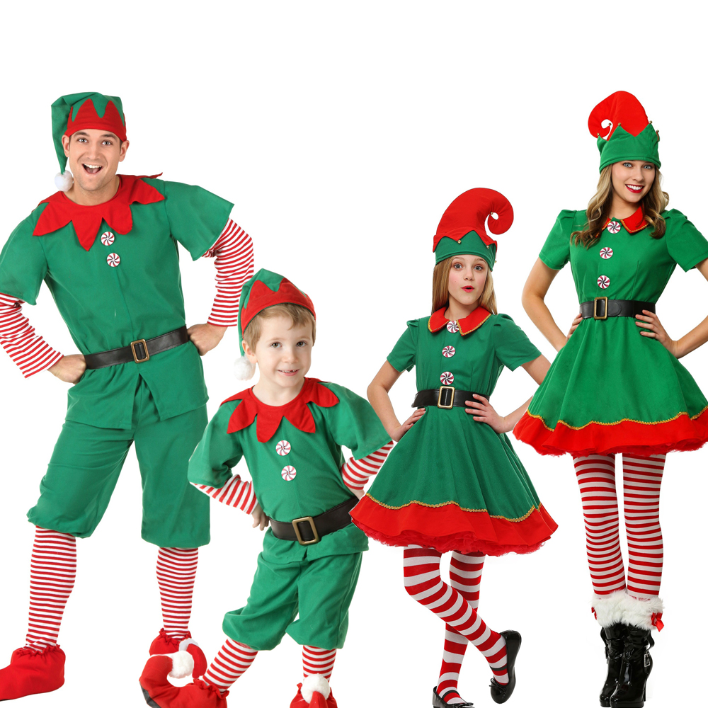 Snailify Christmas Outfit Girls Holiday Elf Costume Family Christmas Costume Parent Children Women Christmas Dress