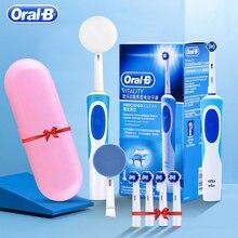 Oral b sonic escova de dentes elétrica rotativa vitalidade d12013 recarregável escova de dentes higiene oral escova de dentes cabeças de escova