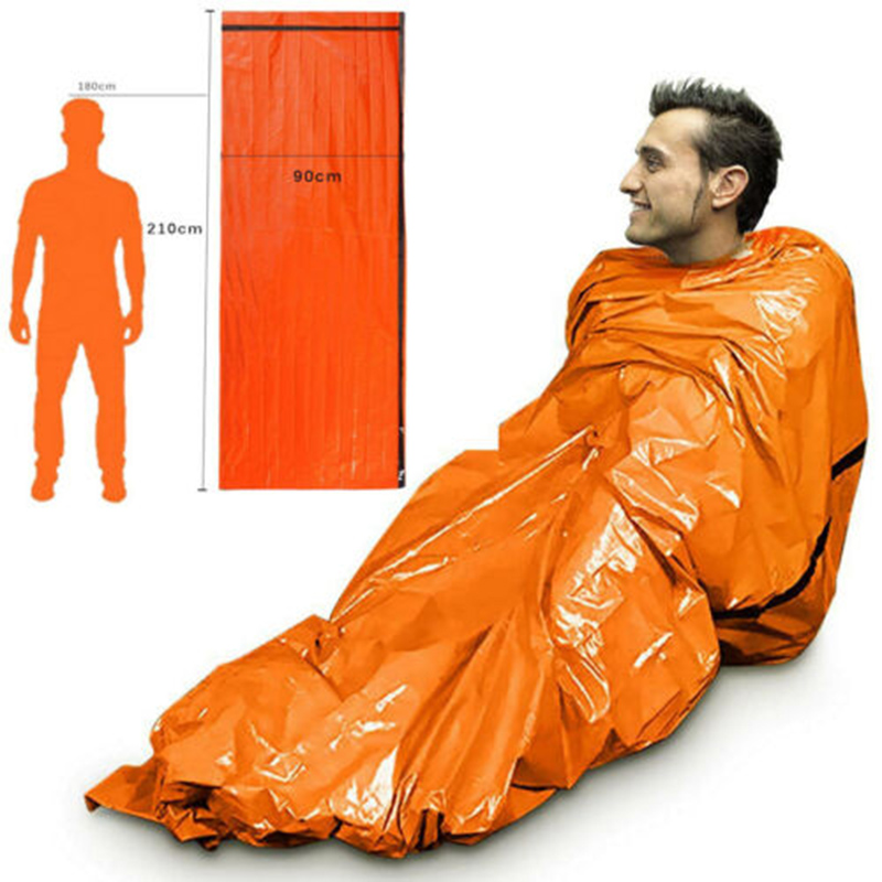Thermal Waterproof Emergency Sleeping Bag For Outdoor Survival Hiking Camping THJ99