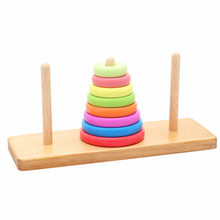Tower of Hanoi Five-color Case Column Children'S Educational Early Childhood Wooden Toys(China)