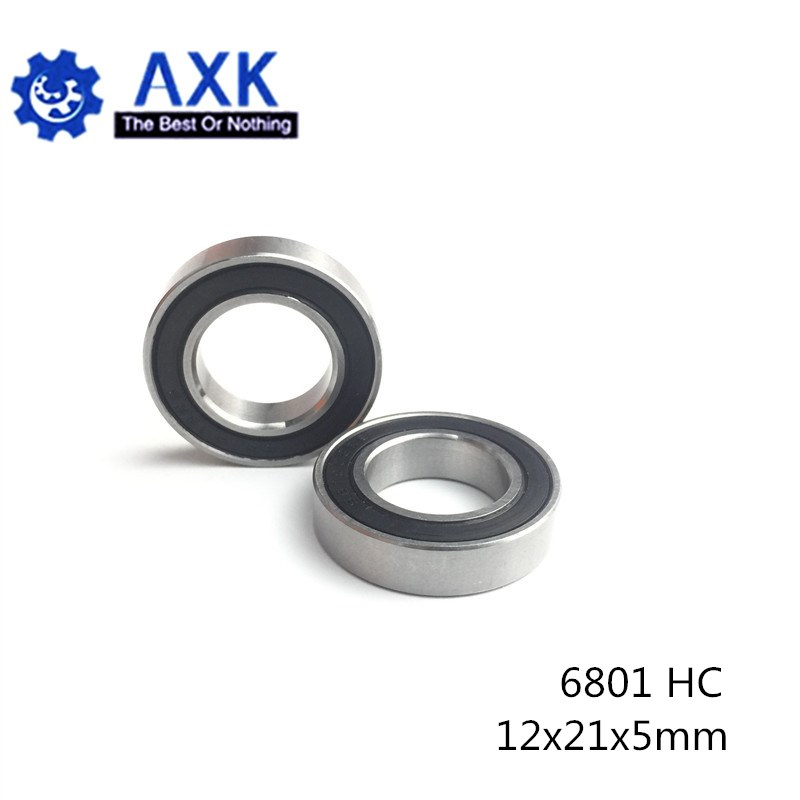 6801 Hybride Keramische Lagers 12X21X5 Mm ABEC-1 ( 1 Pc) fiets Bottom Beugels & Spares 6801RS Si3N4 Kogellagers 6801 2RS