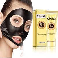 Tiras de nariz máscara negra puntos negros removedor de espinillas para el cuidado de la cara máscara negra para la nariz máscara de la piel EFERO