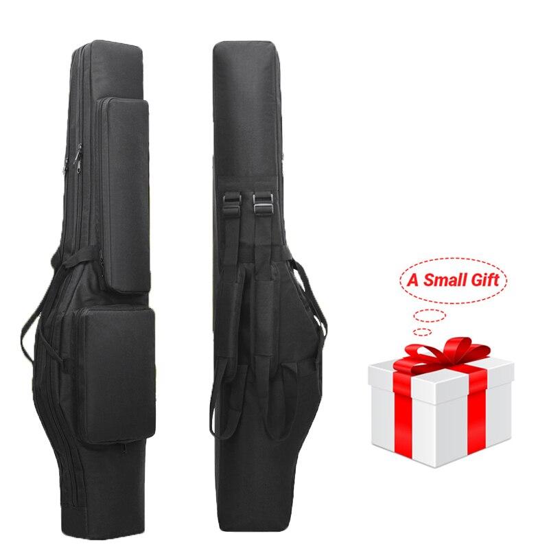 120cm Tactical Dual Rifle Bag Airsoft Gun Carry Bag Waterproof Gun Holster Shotgun Padded Case Military Hunting Bags Backpack
