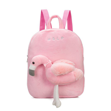 3-6 Year Old Children Character Backpack 3D plush Red-crowned crane school bags mochila Cute Kid Toddler Schoo Bags