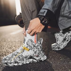 Image 5 - Осенне зимняя обувь, мужская спортивная обувь для улицы, Мужская Баскетбольная обувь, граффити, Гао Банг, увеличивающая рост, мужская повседневная обувь
