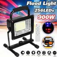 Reflector LED impermeable para exteriores, 900W, 256, proyector externo, iluminación de jardín, recargable por batería de 18650