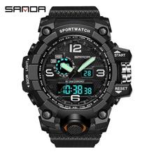 SANDA Military Army Mens Watch 30m Waterproof Sport Watch Du