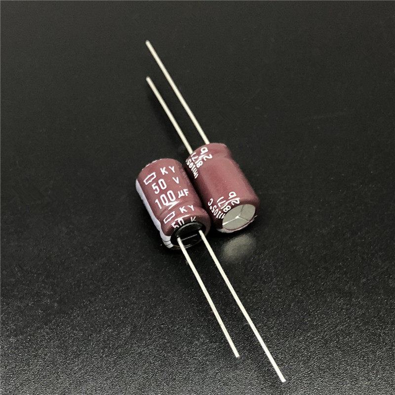 100pcs 100uF 50V NCC KY Series 8x11.5mm Low ESR 50V100uF Aluminum Electrolytic Capacitor