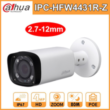 Dahua IP Camera Security IPC HFW4431R Z HD 4MP Network Bullet Camara IR80M 2.7 12mm Electric Zoom Lens H.265 PoE Network Camera