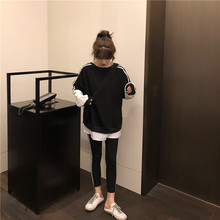 YOSO Two-piece set Women Korean style autumn and winter new raglan sleeves color long sleeve sweater + side 3 pull leggings raglan sleeve side slit lace up sweater