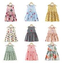 Robe de princesse en coton pour filles de 1, 2, 3, 4, 5, 6, 7, 8 ans, vêtements d'été à pois pour enfants