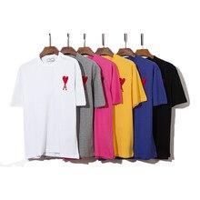 2021 d'été De haute qualité à manches Courtes En Coton T-shirt Mode Hommes et Femmes Décontracté Lâche T-shirt Surdimensionné Ami Hommes Vêtements