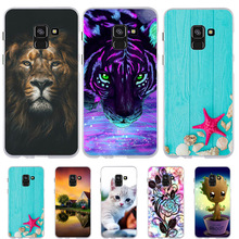 FOR Samsung Galaxy A8 2018 A530F Case Silicone Cover For Bag Cute Cat Dog Funda Phone Cases