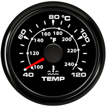 Temperature-Gauge Digital-Thermometer Motorcycle 52-Mm Celsius for Car 40-120