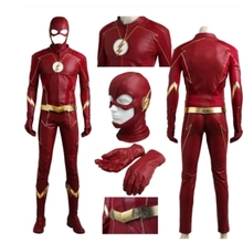 adult Men Flash costume red uniform The Flash Season 4 Barry Allen Flash