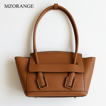 купить 2019 New Vintage Genuine Leather Trapeze Bag Luxury Handbag Women Bags Designer Cowhide Ladies Shoulder Bags Large Capacity Tote дешево