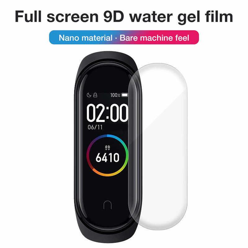10 sztuk dla Xiao mi mi Band 4 Screen Protector miękka folia dla mi Band 4 inteligentne akcesoria do bransoletki pełny ekran przepuszczalność Film