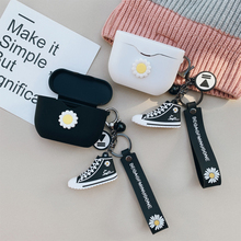 Korean Earphone Cover for Sony WF-1000XM3 Case Wireless Bluetooth Headphone Protect Silicone Daisy Flower Keychain Decor