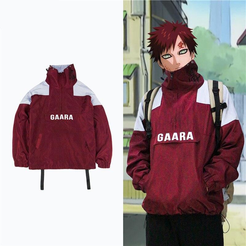 New NARUTO Sabaku No Gaara Cosplay Costumes Kazekage Ninja Cotton Zipper Hoodies Sweater Teen Sportswear Jackets Sweatshirt Coat